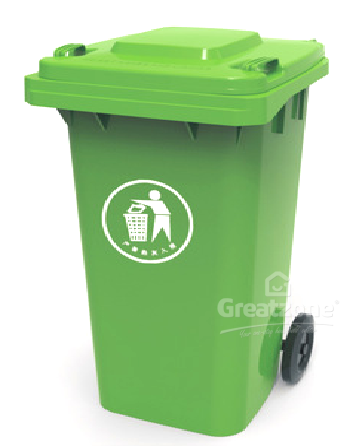 240L GREEN DUSTBIN