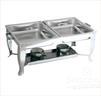 18.0 Stainless Steel Twin Food Pan Chafing Dish