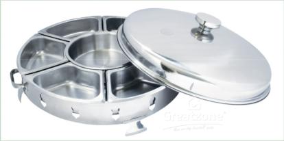 18.0 Stainless Steel Economy Party Chafing Dish (7pcs Bowl)