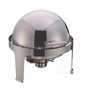S/STEEL ROUND ROLL TOP CHAFING DISH