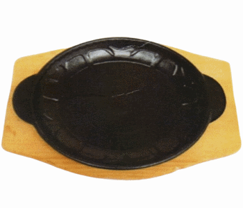 Round Shape Sizzling Plate - Palte Only Optional Board