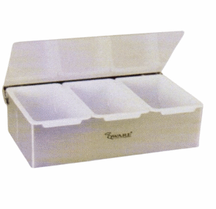 Compartment Condiment Dispenser - 3