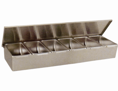 Compartment Condiment Dispenser - 6